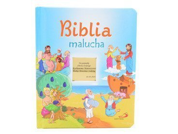 Biblia Malucha. Pamiątka na chrzest z Dedykacją