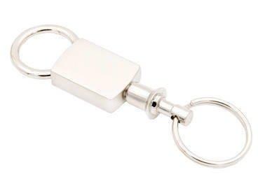 Breloczek Brelok do kluczy metalowy matowy prezent z Grawerem