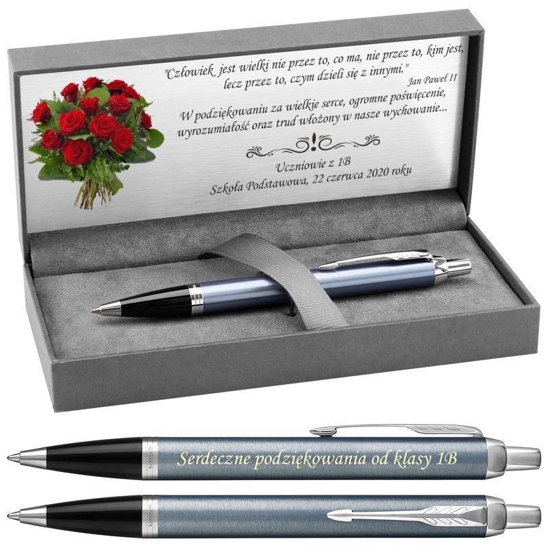 Długopis Parker IM Blue Grey CT z Grawerem
