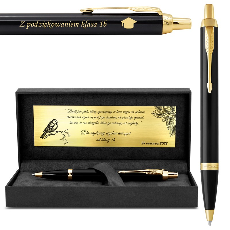 Długopis Parker IM Czarny GT z Grawerem