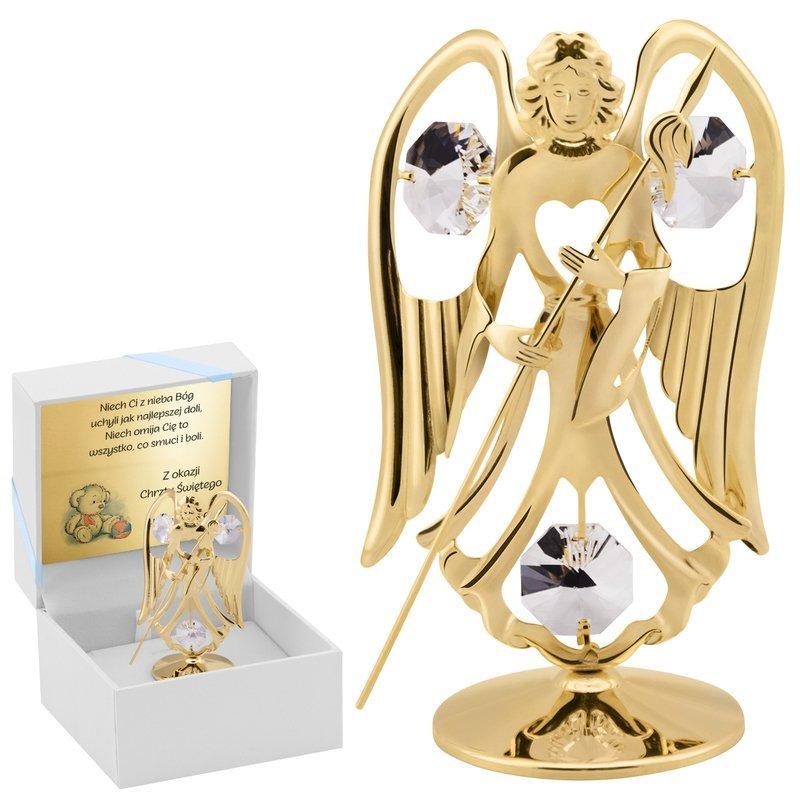 Figurka anioł Swarovski na chrzest z Dedykacją
