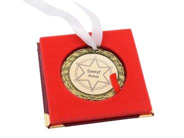 Medal złoty w etui NADRUK