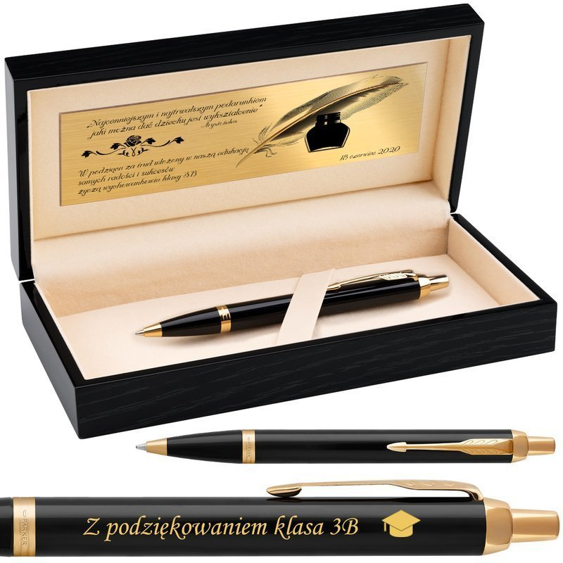 Parker IM Długopis Czarny GT Grawer Nowość