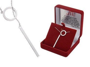 Srebrny Naszyjnik pr. 925 krawatka 40-45 cm regulowane Dedykacja