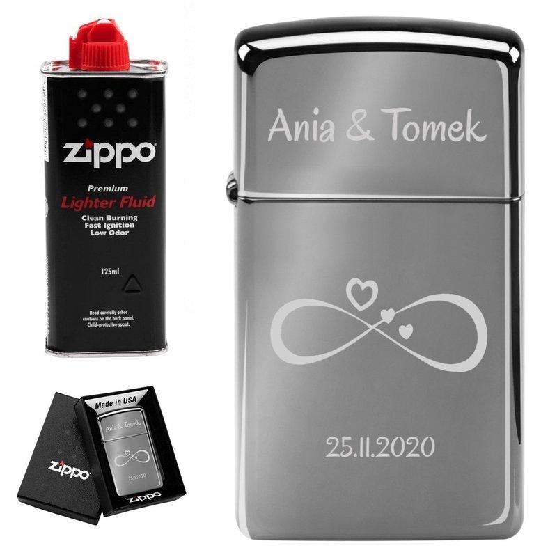 Zapalniczka ZIPPO Z20492 Black Ice Slim benzyna Grawer