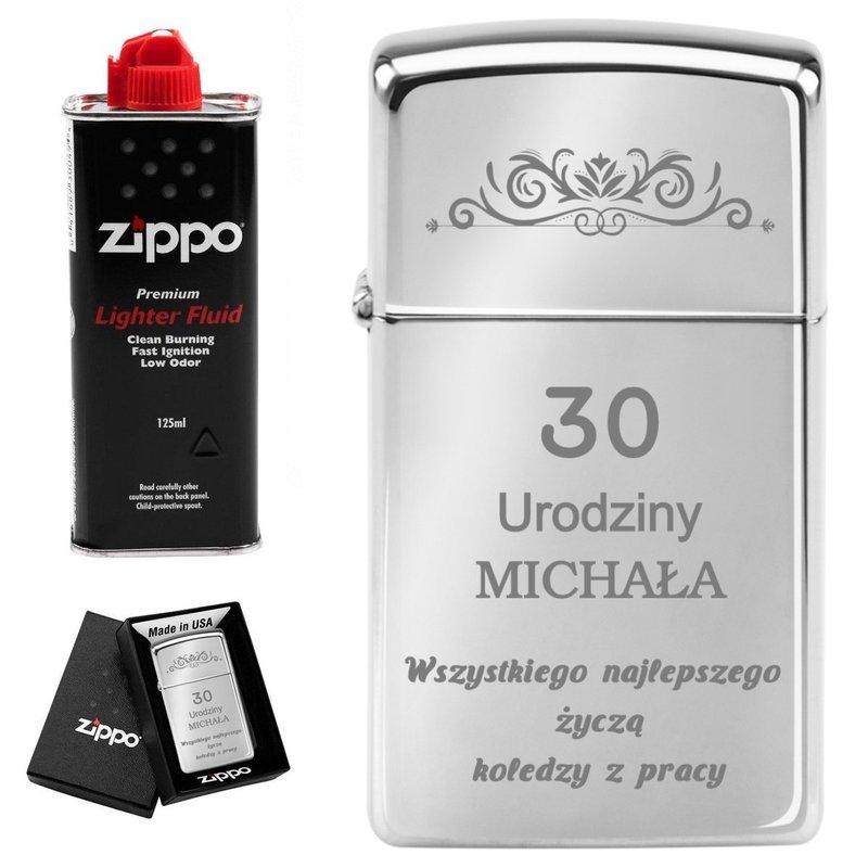 Zapalniczka ZIPPO z1610 Slim High Polish Chrome  Zdjęcia GRAWER