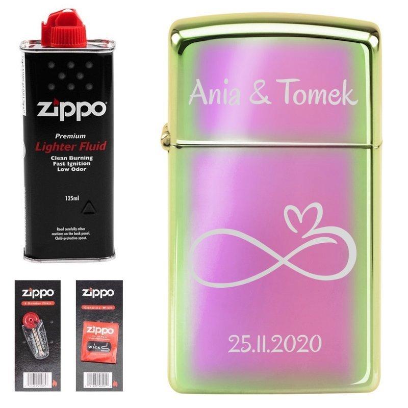 Zapalniczka Zippo Z20493 Slim Spectrum Benzyna, Knoty, Kamienie Grawer