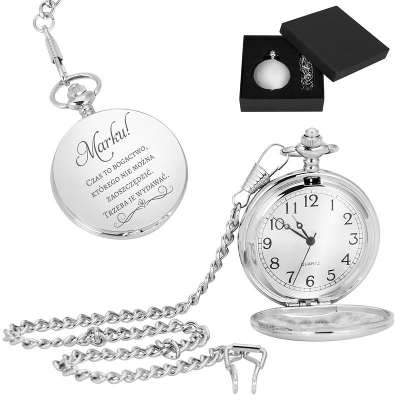 Zegarek kieszeniowy busola prezent urodziny Grawer