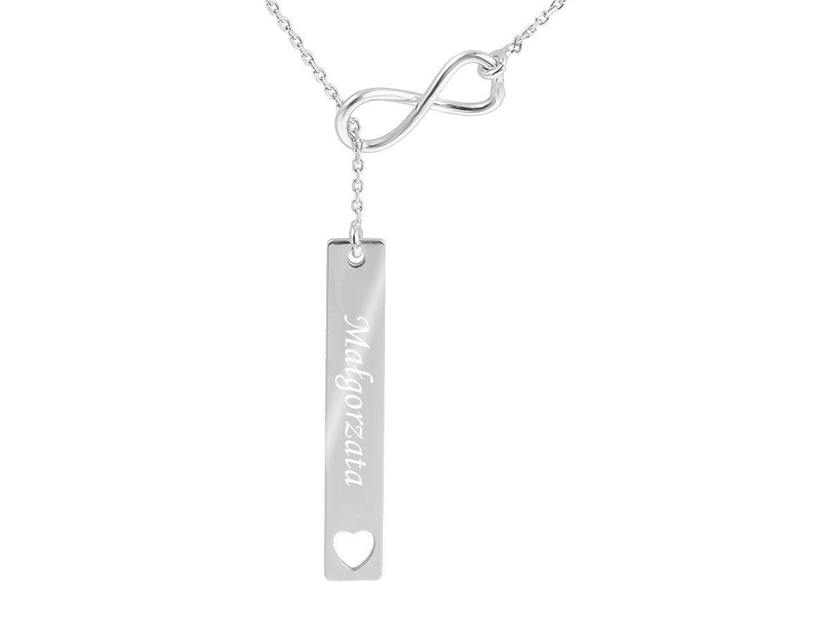 Srebrny Naszyjnik pr. 925 Krawatka Nieskończoność GRAWER