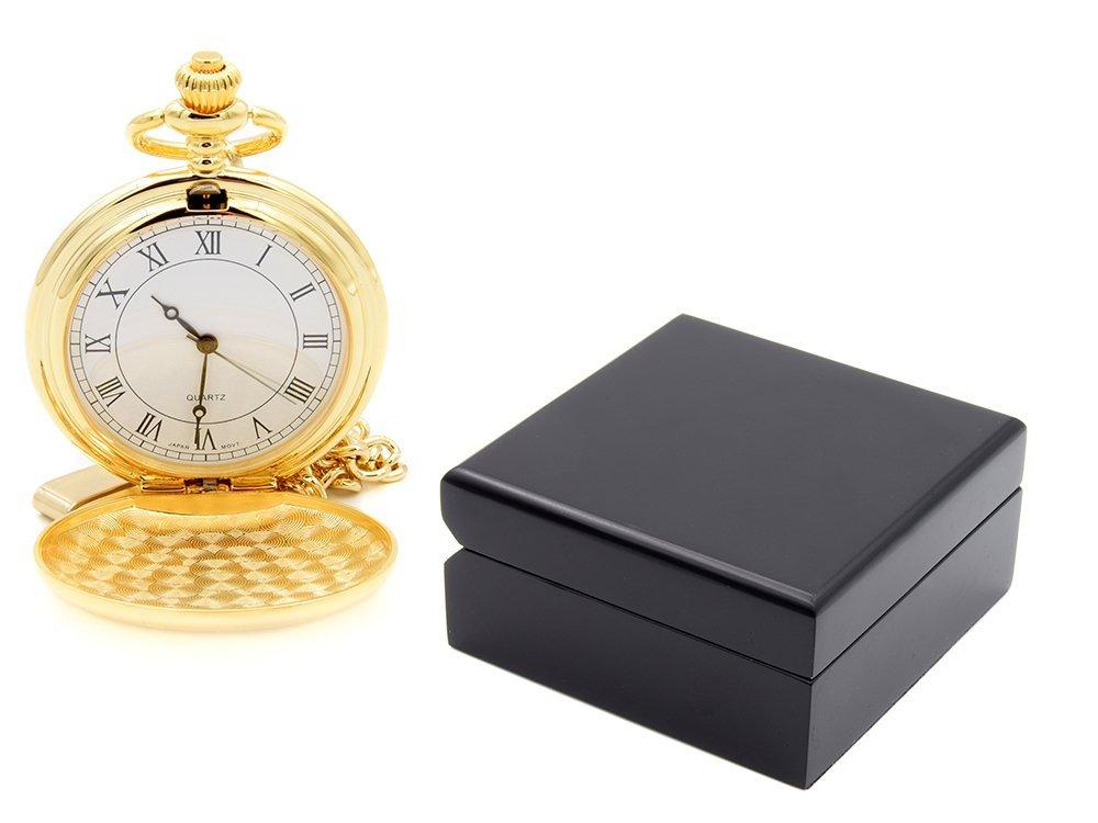 Zegarek Kieszeniowy Złoty Prezent Urodziny Grawer
