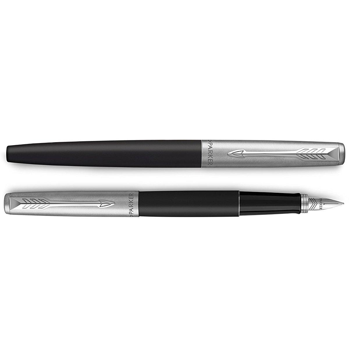 Zestaw Pióro + Długopis Jotter Parker Czarny CT + Etui Grawer