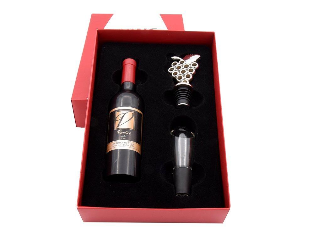Zestaw akcesoriów do wina ( 3 elementy ) DEDYKACJA