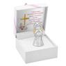 Aniołek  z sercem 7 cm Srebro Grawer Dedykacja Pamiątka Chrztu na Chrzest 5