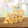 Figurka pozłacana lokomotywa Prezent na Chrzest Dedykacja 8