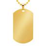 Nieśmiertelnik koloru złotego stal szlachetna TWÓJ GRAWER jakość