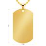 Nieśmiertelnik koloru złotego stal szlachetna TWÓJ GRAWER jakość 6