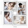 Posrebrzana Ramka na 4 zdjęcia chrzest, komunia, ślub, urodziny GRAWER  4