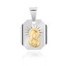 Srebrny medalik Matka Boska / Madonna - pozłacany GRAWER 5