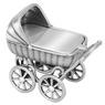 Srebrny wózek / pamiątka prezent na Chrzest / pr. 925 / z Grawerem 2