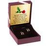 Złote kolczyki pr. 333 Kwiatek Prezent na chrzest roczek z Dedykacją 2