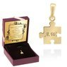 Złoty Wisiorek Puzzel próba 585 Grawer 1
