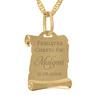 Złoty medalik z Matką Boską i Dzieciątkiem w kolorze z Grawerem - z łańcuszkiem / różowa kokardka / na Chrzest / I Komunię Św. / pr. 585 4